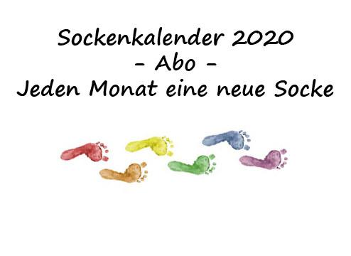 Sockenkalender 2020 -gedruckte Version-