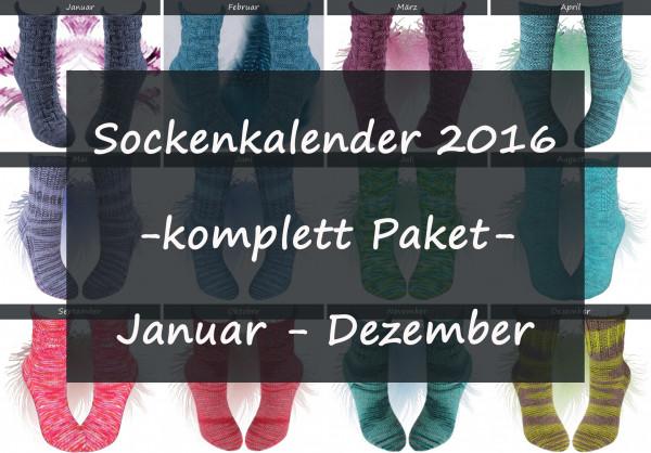 Sockenkalender 2016 -komplett Paket-