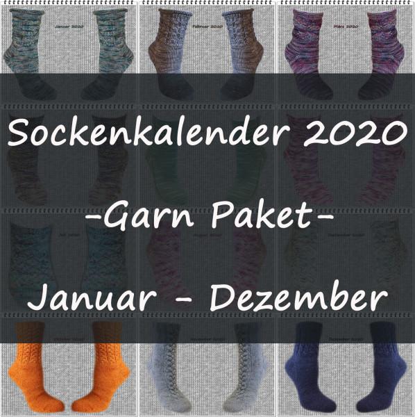 Sockenkalender 2020 -Garn Paket-