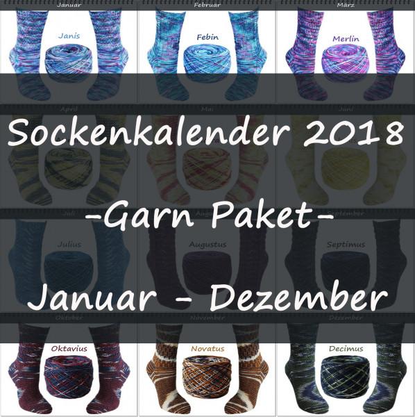 Sockenkalender 2018 -Garn Paket-