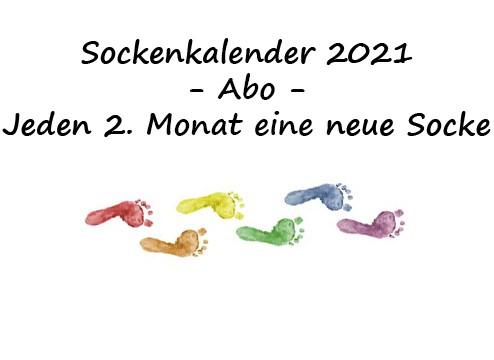 Sockenkalender 2021 -gedruckte Version-