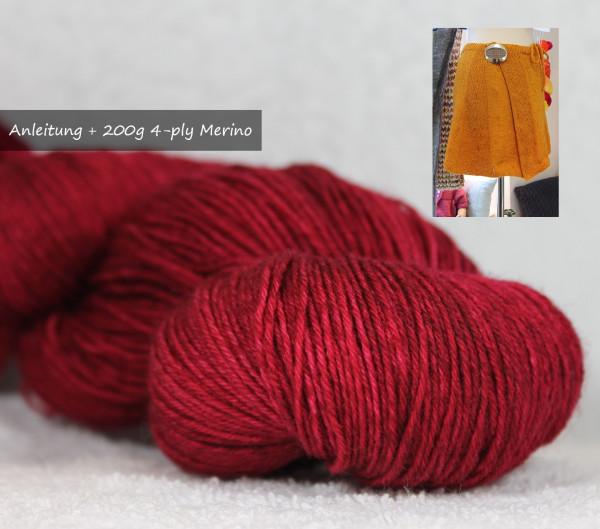 Strickpackung - Wendelina -Vino Rosso-
