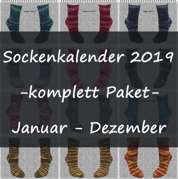 Sockenkalender 2019 -komplett Paket-