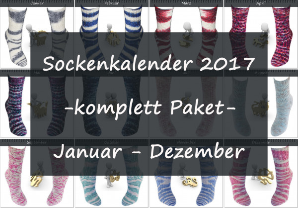 Sockenkalender 2017 -komplett Paket-