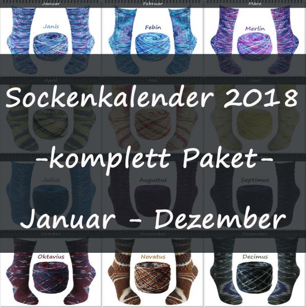 Sockenkalender 2018 -komplett Paket-