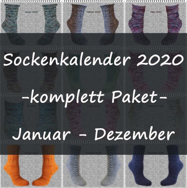 Sockenkalender 2020 -komplett Paket-