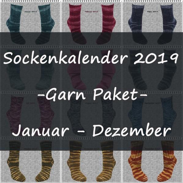 Sockenkalender 2019 -Garn Paket-
